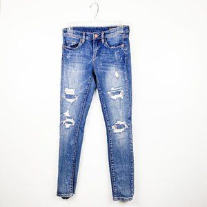 BLANK NYC Distressed Ripped The Reade Jeans 25